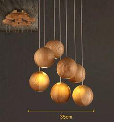 Vintage pendant light manchurian ash Wood lamp diameter 10cm ball LED G4 droplight fixture-in Pendant Lights from Lights & Lighting on Aliexpress.com   Alibaba Group