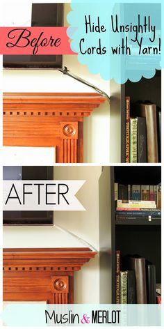 Creative Ways To Hide Electrical Cords And Devises In Your Home Décor |  Cable, Hide Electrical Cords And Electrical Cord