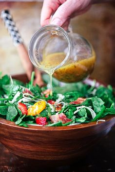 Strawberry Bacon Spinach Salad with Poppy Seed Dressing
