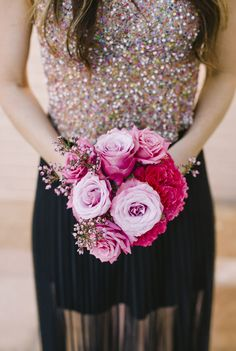 Sparkly chic bridesmaid dress, photographed by We Love Pictures
