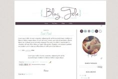 INSTANT DOWNLOAD  Simply Simple   ///   Pre-Made Blogger Template