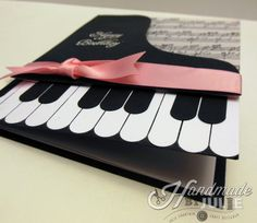 Piano inspired birthday card | HandmadebyJulie.com