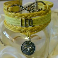Leo Bracelet Metal Alloy Material Wax Cord Faux leather Lobster Clasp Adjustable One size fits most Jewelry Bracelets