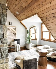 6 Ways to Create a Relaxation Room for Your Home - Living with Amanda Attic Master Bedroom, Attic Rooms, A Frame Bedroom, Small Loft Bedroom, Small Attic Room, Loft Room, Attic Apartment, A Frame Cabin, A Frame House