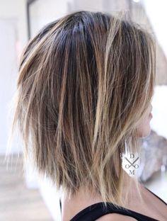 Trendy Medium Hairstyle, Women Shoulder Length Haircut Ideas