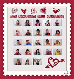 Printed on magnet sheet for teacher gift. Each child then made a photo card for parent gift. Smash hit!