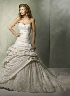 Shop Maggie Sottero Wedding Dresses and find the perfect dress for your big day! Choose from popular bridal styles for any body type like Full length gowns, Lace, Sweetheart and Backless! Wedding Dress Bustle, Cheap Wedding Dress, Strapless Dress Formal, Prom Dresses, Long Dresses, Pretty Dresses, Maggie Sottero Wedding Dresses, A Line Gown, Different Dresses
