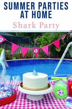 Host a Jaw-some shark party in your back yard for your family or to celebrate a birthday with this fin-tastic inspiration from Everyday Party Magazine #SharkParty #SharkBirthday #SharkWeek