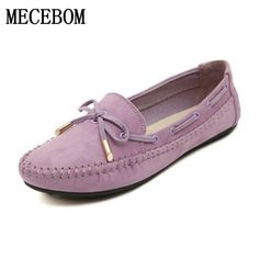 14.26$  Watch here - http://ali0gk.shopchina.info/1/go.php?t=32790443807 - 2017 Casual Bowtie Loafers Sweet Candy Colors Women Flats Solid Summer Style Shoes Woman 4 Colors Plus Size 35-41 B008W  #buychinaproducts