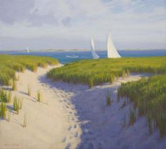 Path Through the Dunes, oil on linen, 19 x 21 inches, $5,800