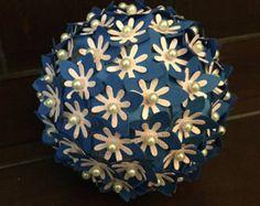 Medium paper flower pomander ball by simplypearlee on etsy 2500 items similar to medium paper flower pomander ball on etsy mightylinksfo