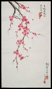 Wen-Yi- Peinture chinoise traditionnelle - calligraphie chinoise - Style Gong Bi- Les fleurs