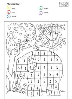Coloriage Chiffre 5 - Through the thousand photos on the net in relation to Coloriage Chiffre we picks the top seri Elmer The Elephants, Color By Numbers, Math Worksheets, Eyfs, Fine Motor Skills, Colouring Pages, Pre School, Kids And Parenting, Activities For Kids