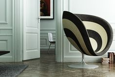 Rosa Poltrona Cocoon Chair With Acoustic Absorbing Foam | Jocundist
