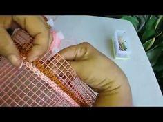 Cara Membuat Tas Rajut Jaring Corak Gendong Pendek Bagian 1 - YouTube