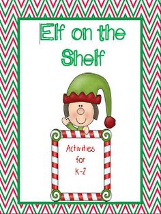 Elf on the Shelf packet!  I love bringing this adorable little guy into my classroom.  Packet includes elf journal, mytery pictures, notes from the elf, writing prompts, and more!