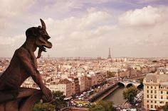 A gargoyle's eye view from the top of Notre Dame Cathedral, Paris ...  Photo credit, Vivienne Gucwa.