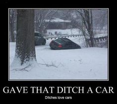 Fucking ditches do love cars.