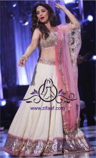 #madhuri dixit looking gorgeous in white & Ppink lehanga choli