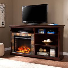 Comanche Electric Fireplace Media Console, for TVs up to 60