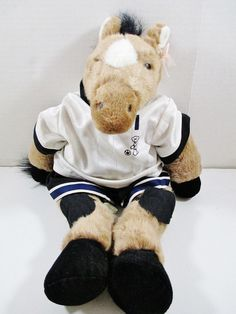 """18"""" Horse in Soccer Outfit. Soccer outfit consist of shirt, shorts and knee pads. 1997 Build a Bear Plush. This is a well cared for plush animal that remains in great condition with minor to no signs of wear. ..... Visit all of our online locations..... www.stores.ebay.com/ourfamilygeneralstore ..... www.bonanza.com/booths/Family_General_Store ..... www.facebook.com/OurFamilyGeneralStore"""