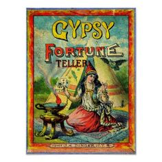 Psychic Gypsy Fortune Teller Vintage Style Poster - decor gifts diy home & living cyo giftidea