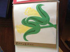 Corn Footprint Art