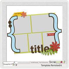 December Template Challenge - FREE template only available during December.