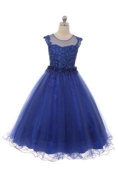544e83153cf0 CBA1708, Royal blue flower girl dress for cheap. #royalbluewedding  #royalblue #juniorbridesmaid