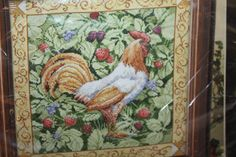 Bucilla Berry Patch Rooster Counted Cross Stitch Kit/WM45627/Country Cross Stitch/Farm Cross Stitch/Chicken Cross Stitch/Rooster and Berries by DebiLynneSupplies on Etsy