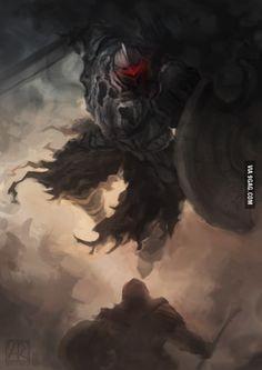 Amazing Dark Souls 2 Artwork of the Pursuer.