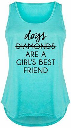 Tahiti Blue 'Dogs Are A Girls Best Friends' Tri-Blend Tank - Plus winner dogs dachshund, dog funny, memes funny dogs Dachshund Gifts, Dachshund Dog, Funny Dogs, Funny Memes, Golden Retriever Gifts, Dog Years, Diamond Are A Girls Best Friend, Athletic Tank Tops, Best Friends