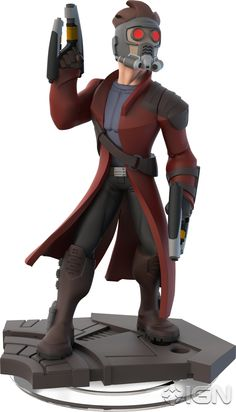 Disney Infinity 2.0 Figure: Star-Lord (Wave 1, Guardians of the Galaxy Play Set, Included in Play Set)