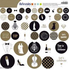 Pegatinas Artemio redondas - Gold - 1 lámina 30,5 x 30,5 - Fotografía n°1 Gold 1, Stickers, Printables, Boutique, Movie Posters, Art, Creative Cards, Festivus, Ornaments