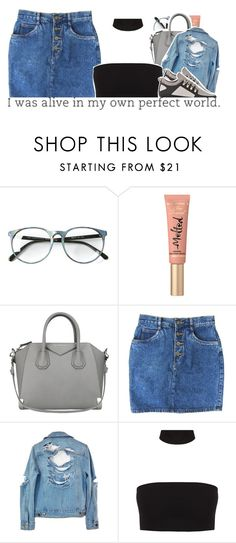 """""""Untitled #815"""" by raeebabyy ❤ liked on Polyvore featuring Too Faced Cosmetics, Givenchy and High Heels Suicide"""