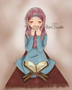 just pray ')) by rawdaalsaqa on DeviantArt – Dizi Filmler Burada Couple Cartoon, Cartoon Pics, Girl Cartoon, Hijabi Girl, Girl Hijab, Muslim Girls, Muslim Women, Muslim Family, Image Facebook