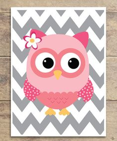 Look what I found on #zulily! Zigzag Sweet Owl Print by Wallquotes.com by Belvedere Designs #zulilyfinds