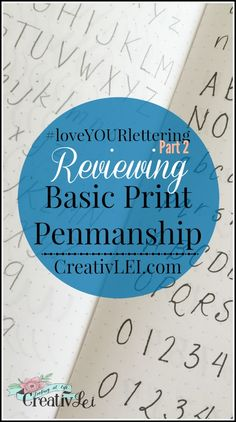 A review of basic print penmanship. #loveYOURlettering: Part 2 with CreativLEI.com Hand Lettering Styles, Doodle Lettering, Creative Lettering, Crafty Hobbies, Penmanship Practice, Learn Art, Start Writing, Improve Your Handwriting, Happy Planner