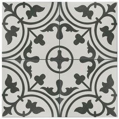 Merola Tile Arte White Encaustic 9-3/4 in. x 9-3/4 in. Porcelain Floor and Wall Tile (11.11 sq. ft. / case)-FCD10ARW - The Home Depot