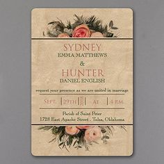 Custom design wedding invitations for your wedding by KSW Exclusive wedding invitaitons Unique Wedding Stationery, Affordable Wedding Invitations, Inexpensive Wedding Venues, Beautiful Wedding Invitations, Floral Wedding Invitations, Wedding Stationary, Bronze Wedding, Gold Wedding, Elegant Wedding