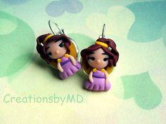 megara stud earrings polymer clay fimo handmade by CreationsbyMD