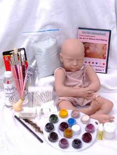 DKI's Complete Beginner's Kit Techniques Series 1 Reborn Teaching Kit With Doll~includes everything you need to complete baby Reese.