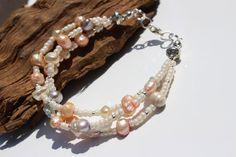 Pearl Bracelet Ivory Bead Bracelet Bridal Jewellery by PinkBeading, £15.00