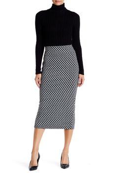 14th & Union   Geo Cube Pencil Skirt (Petite)   Nordstrom Rack