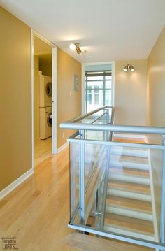District Lofts-388 Richmond St W #717  | 800+/- sf Demand 2 level, 2 bedroom thru-suite with dual North & South exposures & private balcony! Features floor to ceiling windows, upgraded wood floors on both levels + stairs, granite counters with breakfast bar and custom built-in master bedroom closet! Also includes 1 owned pkg. | More info here: torontolofts.ca/district-lofts-lofts-for-rent/388-richmond-st-w-717-1 2 Bedroom For Rent, Toronto Lofts, Lofts For Rent, Master Bedroom Closet, North South, Floor To Ceiling Windows, Granite Counters, The Unit, Flooring