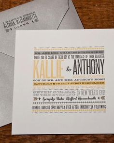 Vintage-inspired typography is met with contemporary elements in this casual invite.