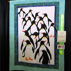 Cute Penguin quilt