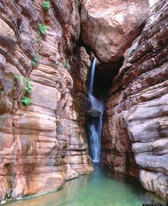 Hidden Waterfalls In The Grand Canyon