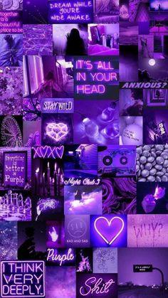 Bad Girl Wallpaper, Purple Wallpaper Iphone, Iphone Wallpaper Tumblr Aesthetic, Neon Wallpaper, Cute Patterns Wallpaper, Aesthetic Pastel Wallpaper, Aesthetic Wallpapers, Aesthetic Backgrounds, Dark Purple Aesthetic