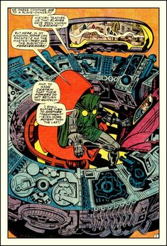 Dr Doom and machinery by Jack Kirby